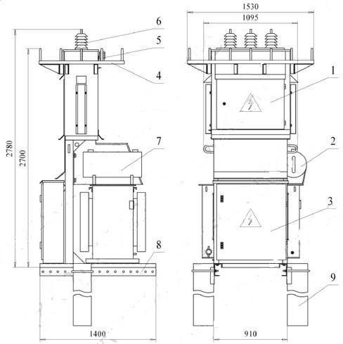 электрическая схема трансформаторной подстанции